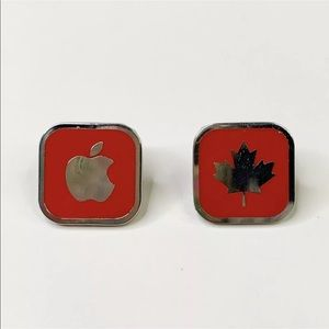 Apple Canada Olympic 2010 Vancouver Lapel 2 Pins